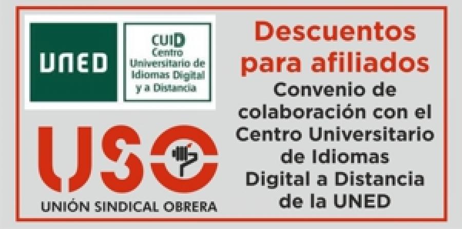USO: Descuentos para afiliados en los cursos de idiomas de la UNED
