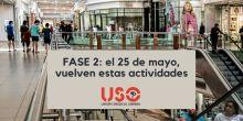 Fase 2: cambios el 25 de mayo para la mitad de los territorios de España
