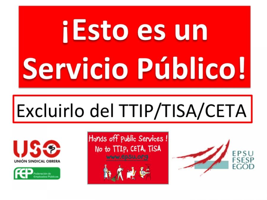 USO: Campaña Europea a favor de los Servicios Públicos