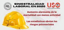 Siniestralidad laboral 2020: aumenta la mortalidad aunque baja el número de accidentes