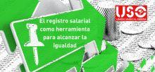 USO considera el registro salarial una buena herramienta para alcanzar la igualdad