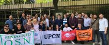 Afiliadas a la ISP se manifiestan ante las embajadas de Chile en el continente americano
