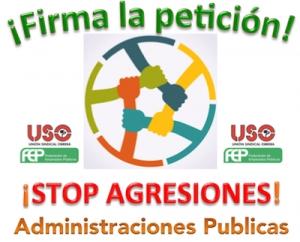 ¡No mas agresiones a los empleados públicos!