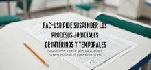 FAC-USO pide suspender los procesos judiciales de interinos y temporales hasta la tramitación de la nueva Ley