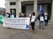 FAC-USO Asturias secunda las movilizaciones convocadas por los trabajadores interinos