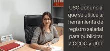 USO denuncia la publicidad gratuita para UGT y CCOO de la herramienta del registro salarial