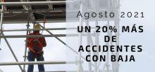 Agosto 2021: Un 20% de accidentes laborales más con baja