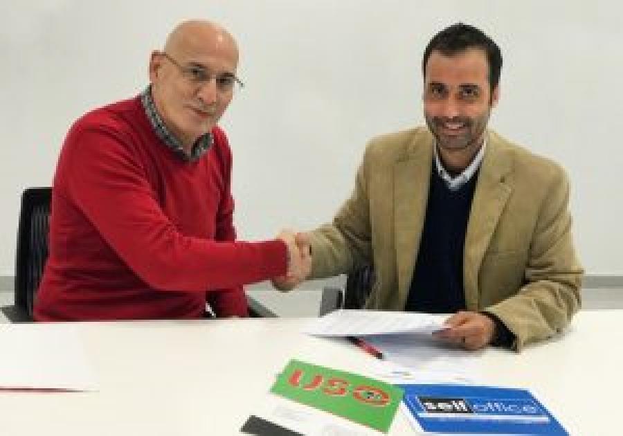 USO firma un acuerdo de colaboración con SELFOffice para la gestión de méritos del Personal Docente e Investigador (PDI) en la UEx