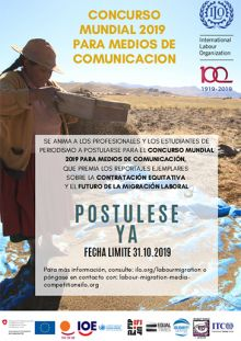 La OIT convoca al Concurso Mundial de Medios de Comunicación sobre la Migración Laboral