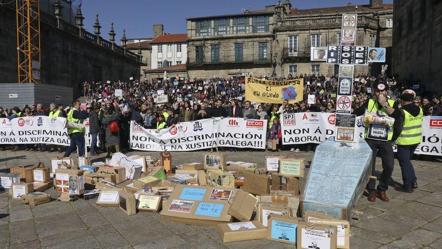 Multitudinaria manifestación de la Justicia en Galicia