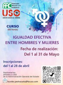 Formación FAC-USO: Curso gratuito sobre Igualdad efectiva entre hombres y mujeres en la AGE