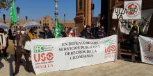 USO-Andalucía se moviliza contra la temporalidad en la Administración Pública